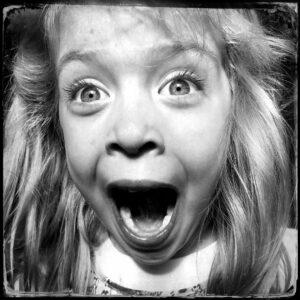 Girl laughing, Point Roberts Washington