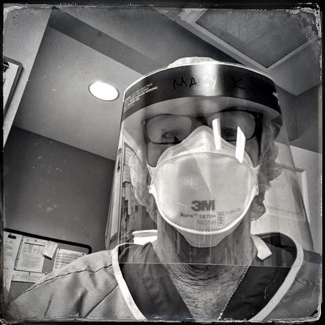 nurse, covid, mask