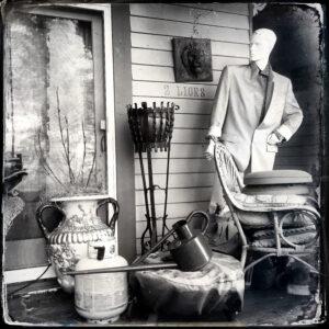 porch, manequin, junk
