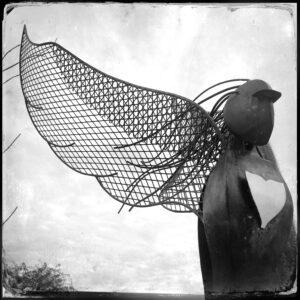 bird artwork statue