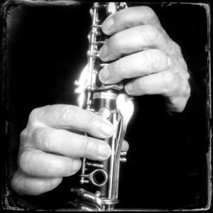 clarinet, hands